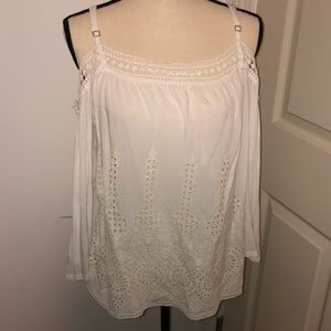 Lovestitch boho cold shoulder tank rayon blouse M